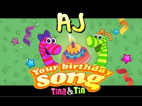 Tina & Tin Happy Birthday AJ (Personalized Songs For Kids) #PersonalizedSongs