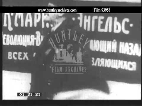 Russian Revolution.  Tsar.  Lenin.  Archive film 93958
