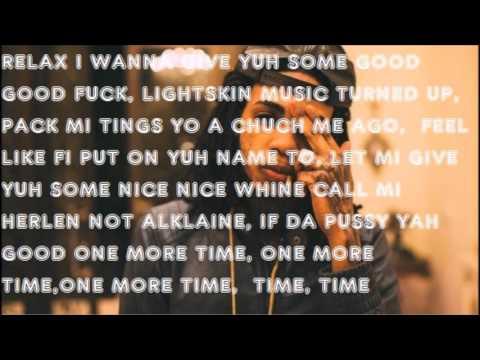 Alkaline- One More Time lyrics video-(All Inclusive Riddim) February 2016