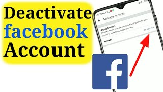 How To Deactivate Facebook Account 2019