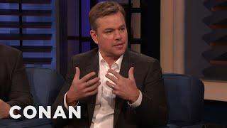 Why Matt Damon Signs So Many Autographs - CONAN on TBS
