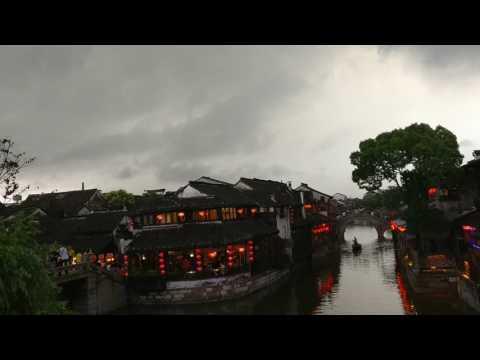 A storm coming up at xitang, China