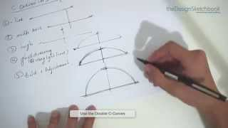 How to draw a C-Curve - Curved lines Sketching techniques