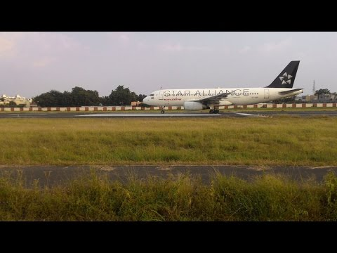 STAR ALLIANCE White A 320 At Rajkot Airport ........VT - ESF