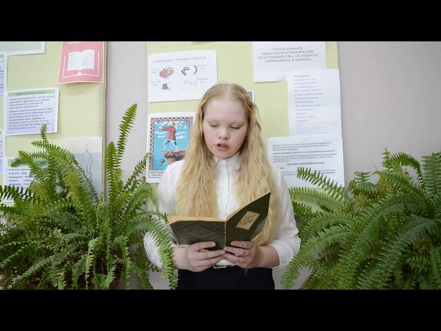 Изображение предпросмотра прочтения – ПолинаНоговицына читает отрывок изпроизведения «Муму» И.С.Тургенева