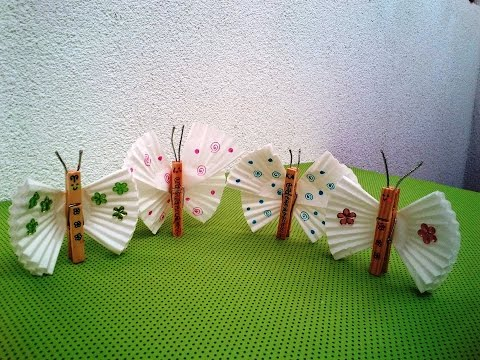 DIY How can I make a butterfly from muffin paper