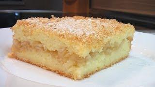Манный пудинг с яблоками видео рецепт. Книга о вкусной и здоровой пище