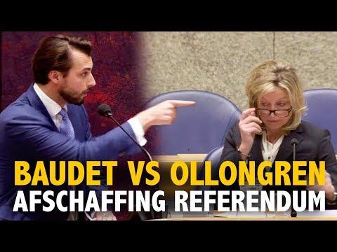 Thierry Baudet pakt Kajsa Ollongren aan over afschaffen referendum!