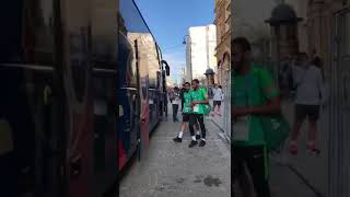 بالفيديو.. حافلة الأخضر تغادر إلي زينيت لبدء التدريبات - صحيفة صدى الالكترونية