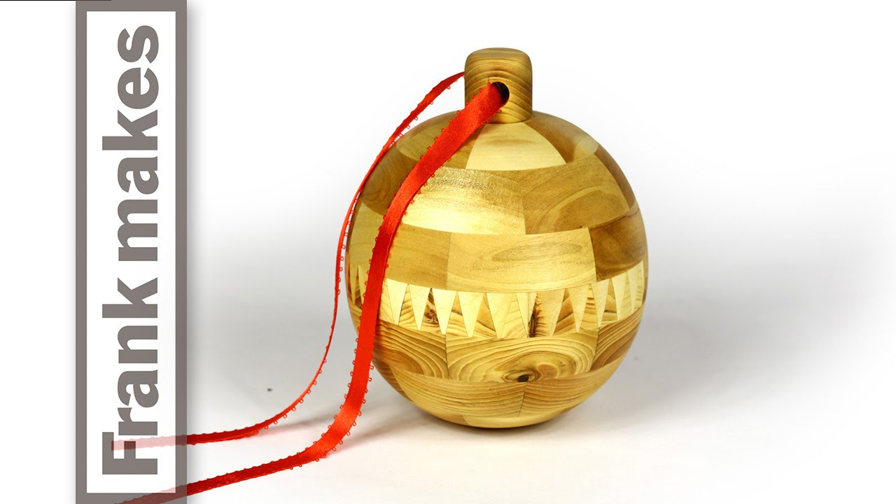 Woodturning A Segmented Christmas Ornament 2014 Frank Makes