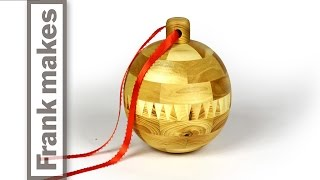 Woodturning A Segmented Christmas Ornament 2014