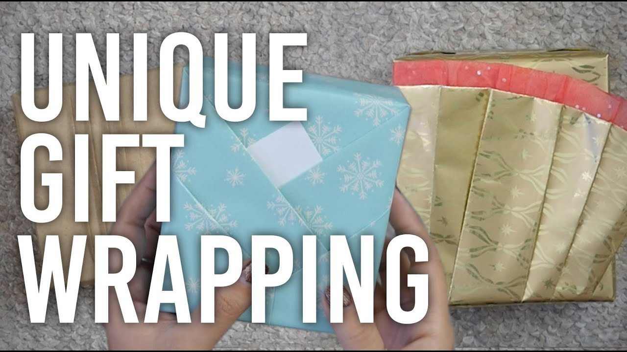 how to do unique gift wrapping diy youtube