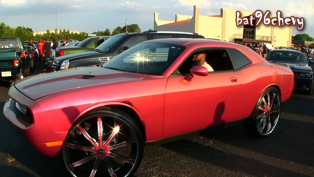 Outrageous Pink Gold Dodge Challenger On 30 Quot Wheels
