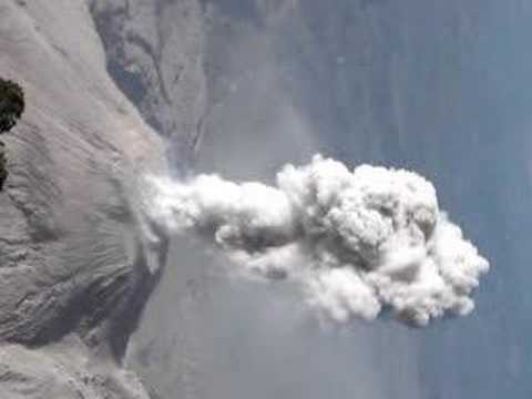 Santiaguito eruption viewed from Santa Maria