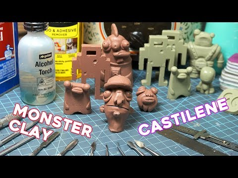 MONSTER CLAY & CASTILENE | Wax Clay Sculpting Toys, Action Figures, or Anything.
