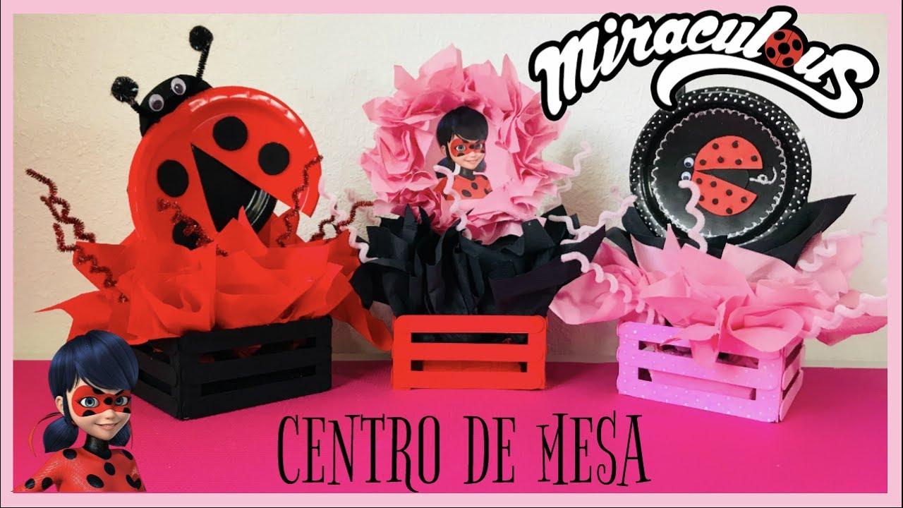 Centro De Mesa Para Fiestas Miraculous Ladybug Manualidades Ash Lestv Youtube