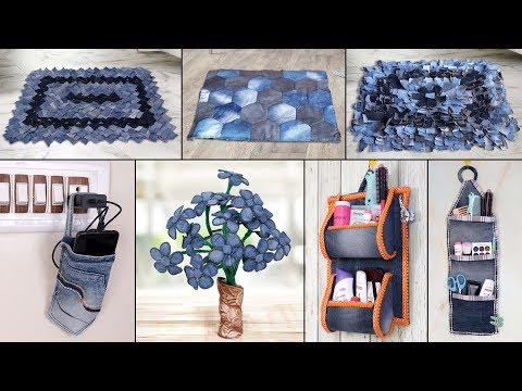 8 Old Jeans Ideas !!! Best Out of Waste    Old Clothes Reuse