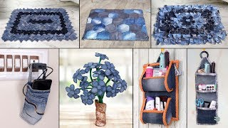 8 Old Jeans Ideas !!! Best Out of Waste || Old Clothes Reuse