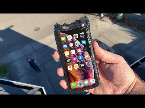 Can Flex Seal Protect iPhone XS from a 50 FT Drop Test? LET'S FIND OUT!