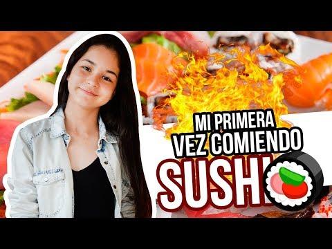 Mi Primera Vez Comiendo Sushi - Video vlog de Judith y sus hermanas probando comidas exoticas.