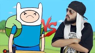 Finn (Hora de Aventura) VS. Mussoumano   Batalha Cartoon - part. Felipe Castanhari