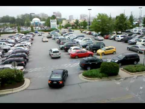 Watching parking lot traffic at Montrose Crossing shopping center in Rockville, Maryland (2 of 2)