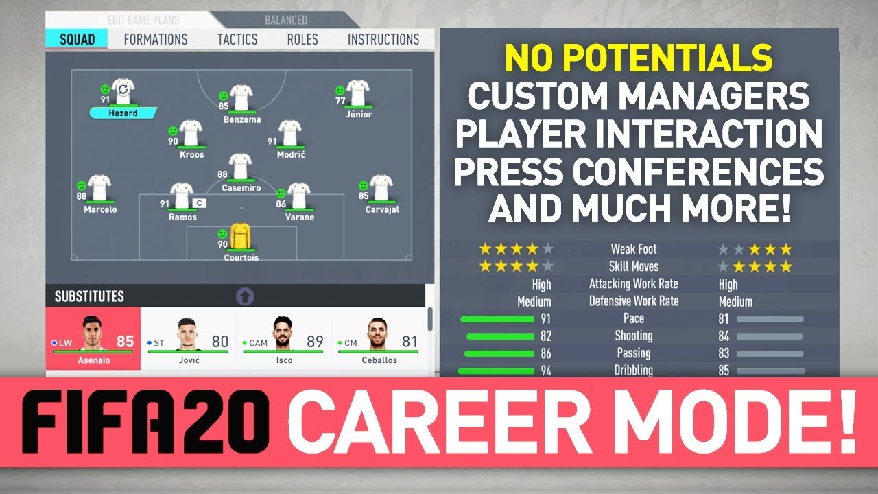 DYNAMIC POTENTIALS & MORE NEW FEATURES! | FIFA 20 CAREER MODE NEWS!