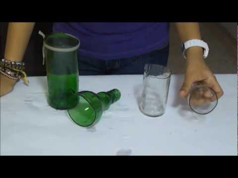 C mo romper una botella de vidrio con un cordel youtube - Como cortar botellas de vidrio ...