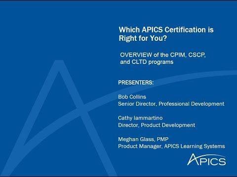 Which APICS Certification Is Right For You