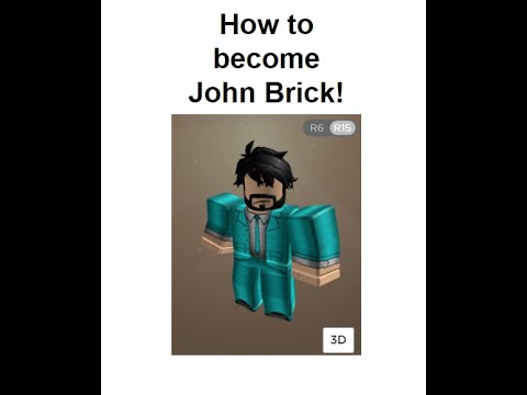 How to become John Brick in the Roblox Avatar Editor ...
