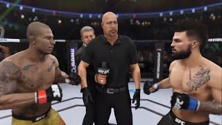 Alex Oliveira Vs Mike Perry EA Sports UFC 3 CPU Vs CPU