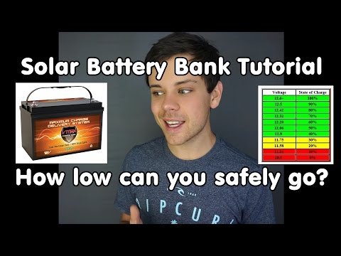 Solar Batteries: How low can you go? Increase performance and lifespan of your battery bank