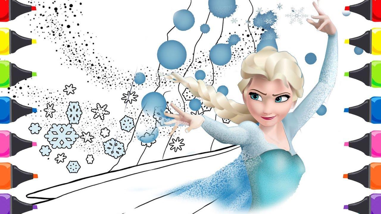 Karlar Kraliçesi Elsa çizgi Filmi Boyama Renkleri öğreniyorum çocuk