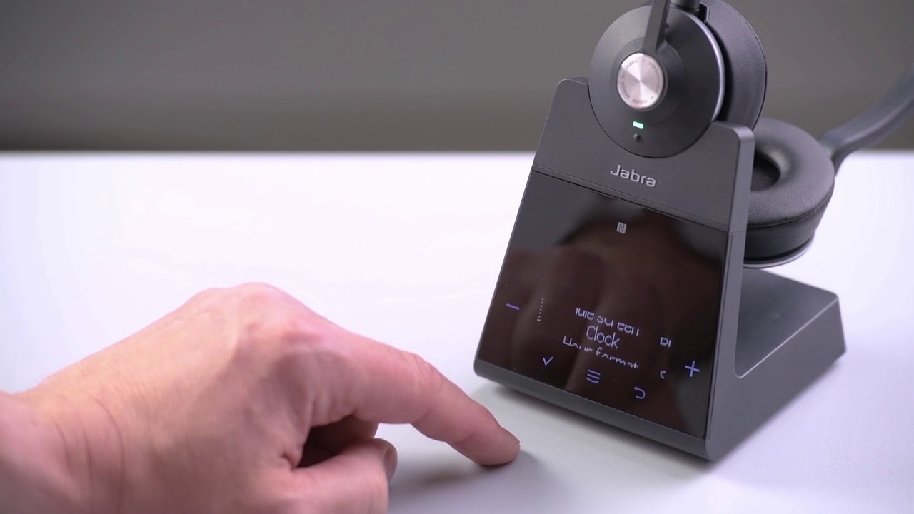 How to use the Jabra Engage 75 on screen menu system
