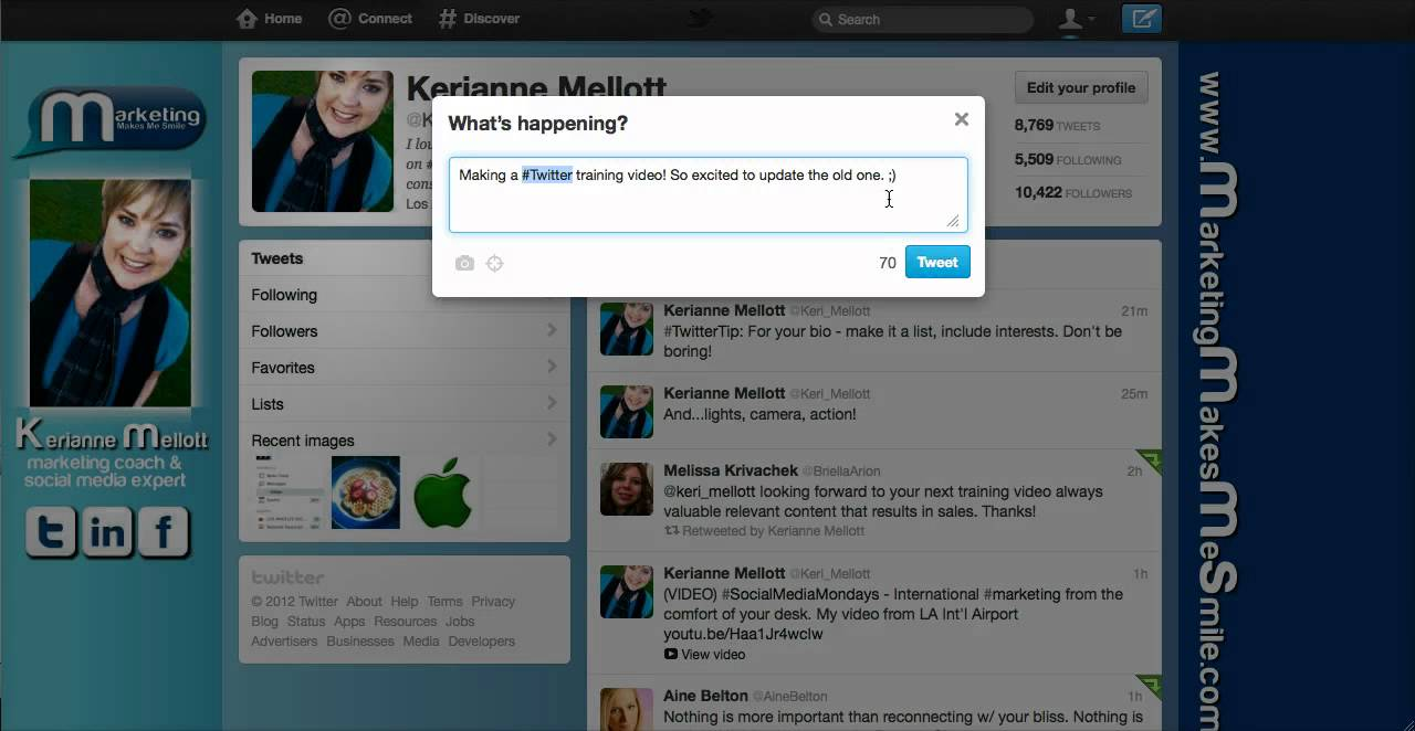 How To Use Twitter - Basics For New Users with Social Media Marketing Coach, Kerianne Mellott!