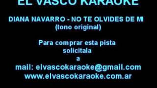 No te olvides de mi Diana Navarro Demo Karaoke
