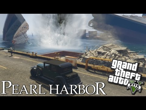 GTA 5 Mods - PEARL HARBOR WWII DESTRUCTION! (GTA 5 PC Mods Gameplay)