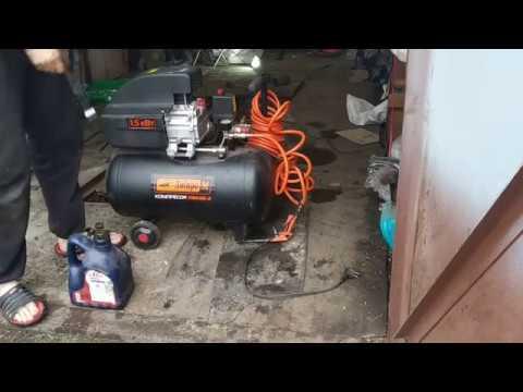 обслуживания компрессора. замена масла в компрессоре днипроМ ПВК-2