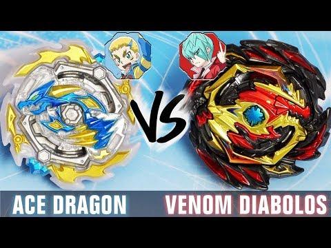 MINI BEY SNIPE! Ace Dragon .St.Ch Zan VS Venom Diabolos .Vn.Bl BATTLE - Beyblade Burst GT/Rise