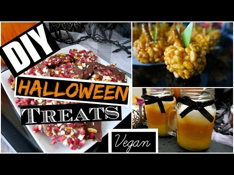 ��5 DIY EASY & TASTY HALLOWEEN TREATS! ��( VEGAN + Kid friendly )