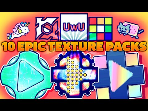 10 EPIC TEXTURE PACKS Para GEOMETRY DASH 2.11 | ANDROID & STEAM (PC) | #26