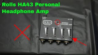 ✅  How To Use Rolls PM55P Personal Monitor Amp Review