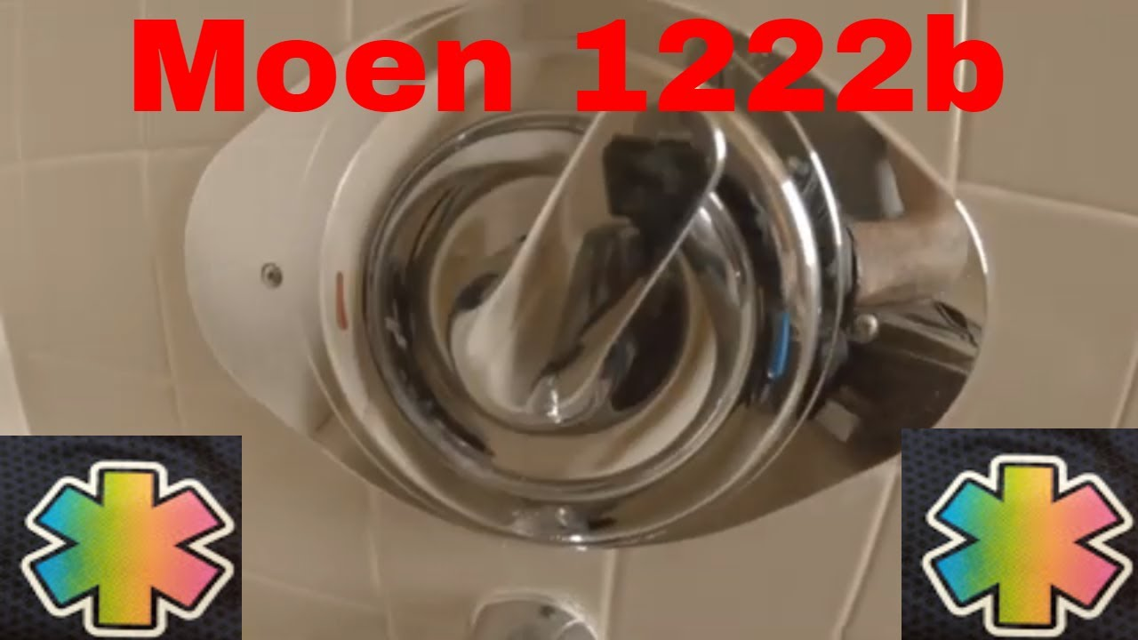 Moen Shower Won T Shut Off How To Replace Moen 1222b Replacement Cartrige Youtube