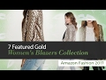 7 Featured Gold Women's Blazers Collection Amazon Fashion 2017