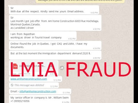 Lmia fraud in Canada -ALERT