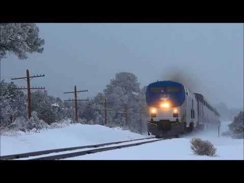Thumbnail: Amtrak's Southwest Chiefs #3 & #4 Plowing Snow - December 2013
