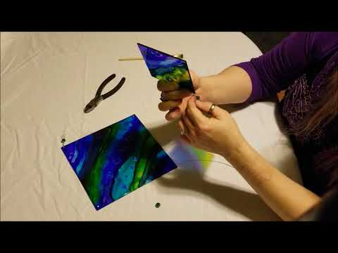 Alcohol Ink Suncatcher Tutorial: Wiring and Assembly