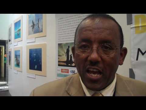 Gashaw A Tahir president of 'Greenland Development Foundation' at Klimaforum09