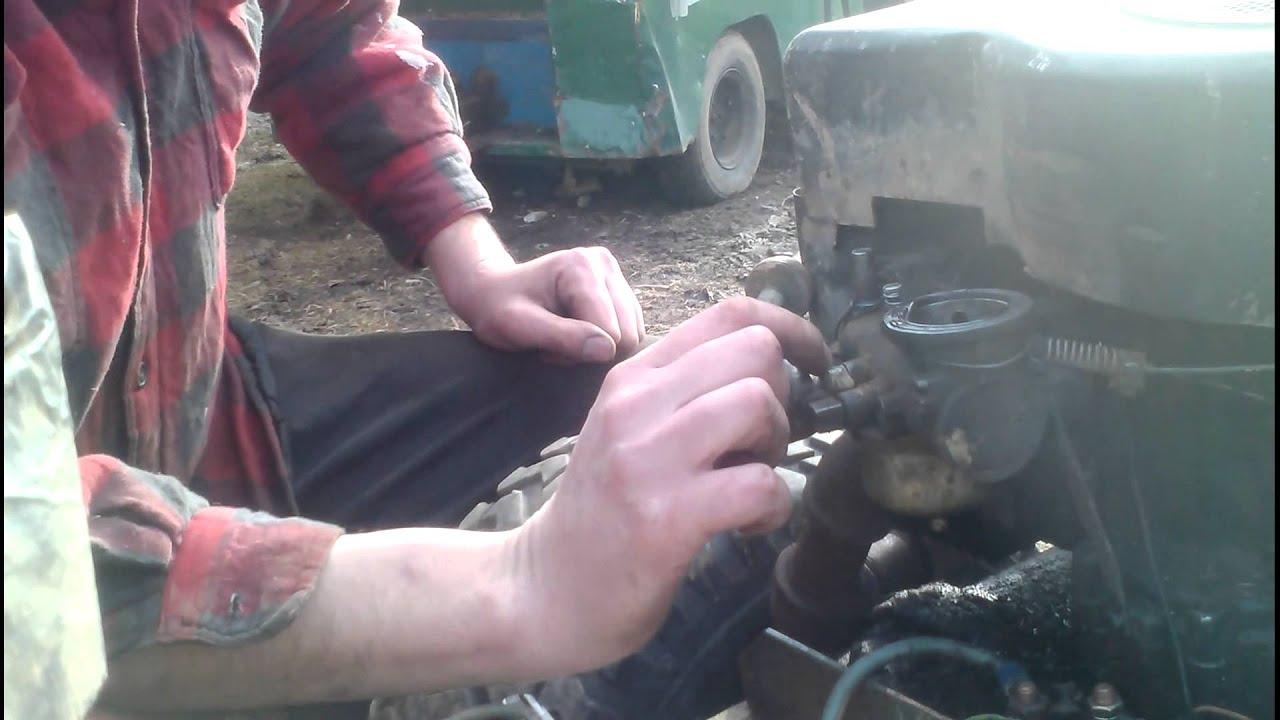 Carburetor Adjustment For Briggs And Stratton Engine Youtube