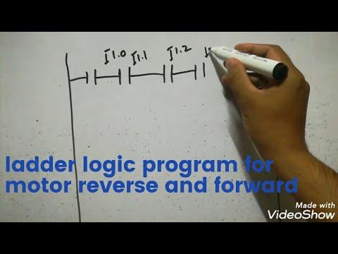 Ladder Logic Program For Motor Reverse And Forward Youtube